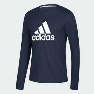 Adidas Men Navy Climalite Tee